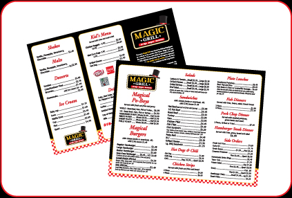 Magic Grill Menu